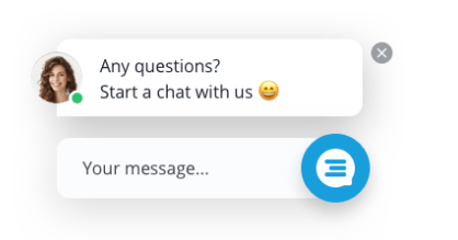 screenshot of proactive chat feature